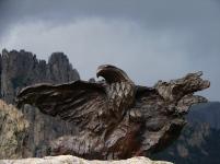 Bronze aigle ailes deployées (2)